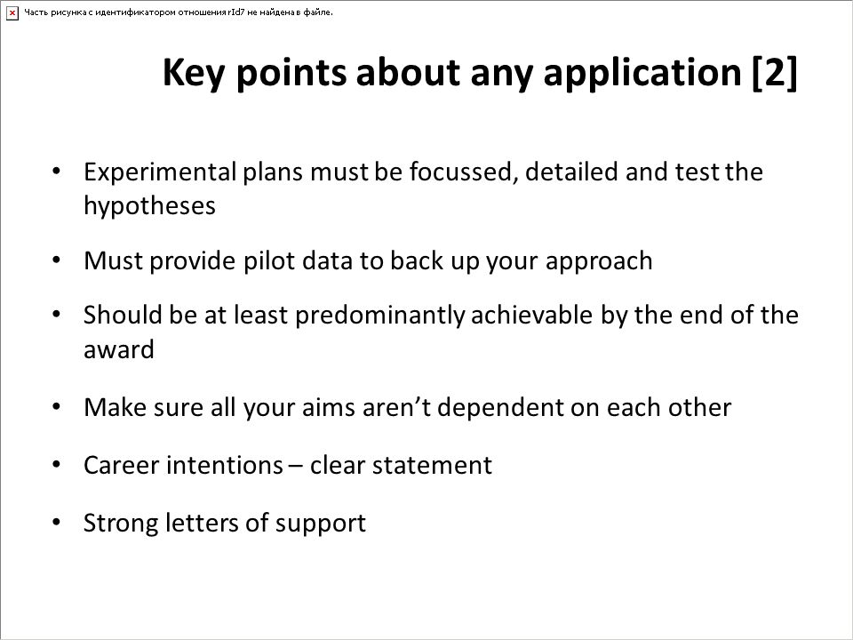 Key points about any application [2]